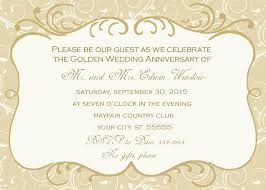 wedding anniversary invitations 50th wedding anniversary invitation