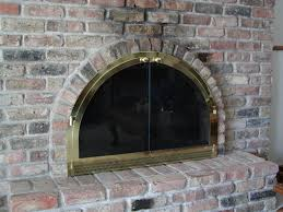 Ideas Fireplace Doors Home Decor Creative Arched Fireplace Doors Modern Rooms Colorful
