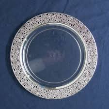 clear plastic plates 10 25 lace clear silver plastic dinner plates plastic plates