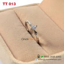 model cincin titanium model cincin wanita unik tt 013