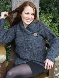 ladies irish aran cable knit cardigan a313 price includes