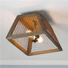 Chicken Wire Chandelier Chicken Wire Shade Ceiling Light 99 From Shades Of Light