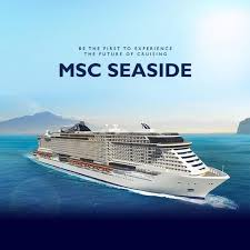 be among the to experience msc seaside book now and take