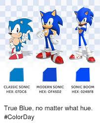 Sonic Boom Meme - classic sonic modern sonic sonic boom hex 07dc6 hex of45d2 hex 024b