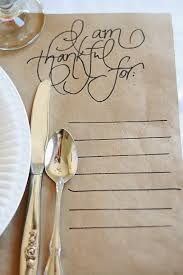 so simple and genius brown craft paper placemats with pretty