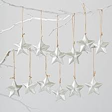 silver ornaments set of 12 the land of nod
