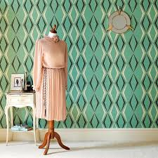 Seafoam Green Wallpaper by Retro Wallpaper 50s 60s 70s Retro Wallpaper Retro Wallpaper Designs