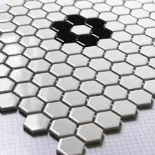 Hexagon Tile Kitchen Backsplash Aliexpress Com Buy White Hexagon Ceramic Mosaic Tile Kitchen