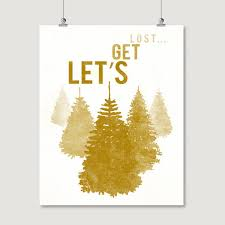 lets lost mountain print mustard hike travel