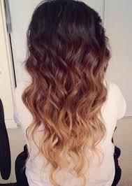 embray hair ombre hair color idea brown to golden blonde wavy dip dye cascade