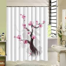 Black Floral Curtains Curtain Black And White Shower Curtain Floral Shower Curtains