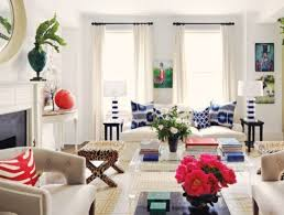 superb eclectic living room with clear modern coffee table design