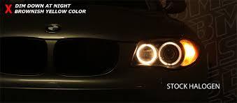 eye bmw headlights bmw led halogen to led upgrade burgertuning com