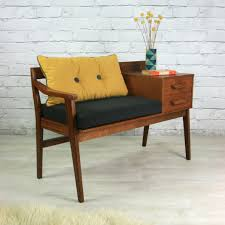 Good Quality Teak Product Vintage Teak 1960s Telephone Seat Telephone Teak And 1960s