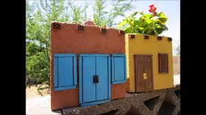 mexican adobe style house planter using a cinder block youtube