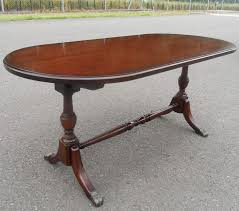 mahogany pedestal coffee table by strongbow