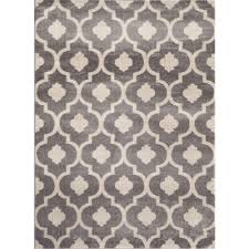 5x7 Area Rugs by World Rug Gallery Moroccan Trellis Contemporary Gray Yellow 2 Ft