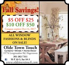 fall savings olde town touch hagerstown md