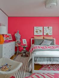 Zebra Print Rug With Pink Trim Pink Accent Wall Contemporary U0027s Room Ana Donohue Interiors