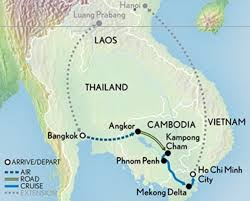 Mekong River Map On The Road Again U2026and The Sky U2026and The River In Southeast Asia