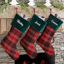 plaid christmas personalized plaid christmas