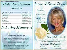 funeral program designs funeral programs template questionnaire template