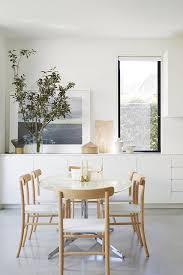 White And Wood Dining Chairs Small White Dining Area Light Wood And White Chairs Built In
