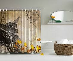 Eiffel Tower Window Curtains by Amazon Com Eiffel Tower Shower Curtain Paris Decor Cityscape By