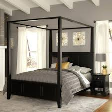 Dania Bed Frame King Size Canopy Bed Frame