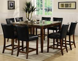 counter height 7 piece dining room table set standard furniture