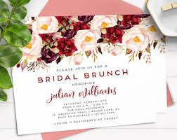 bridal brunch invites brunch invitation etsy