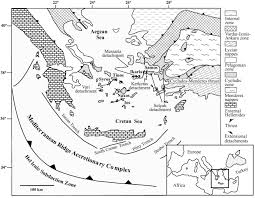 Aegean Sea Map The Extensional Messaria Shear Zone And Associated Brittle