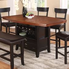 kitchen table with built in wine rack features counter height wine glass rack wine rack storage