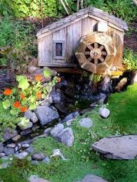 amish water wheel wooden garden yard decor new