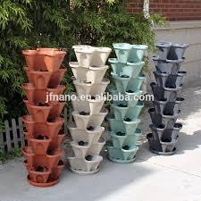 vasi in plastica da esterno arredamento da giardino a buon mercato colorato impilabile in