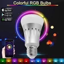 smart light bulbs amazon rgb 7w e27 wifi smart led light bulb for amazon alexa google home
