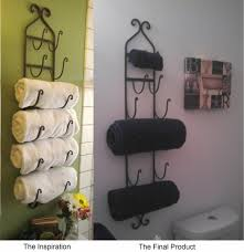 bathroom set ideas with traditional copper towel rack design for