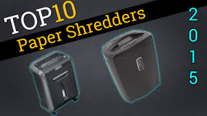 Home Paper Shredders by Top Ten Paper Shredders 2015 Best Paper Shredder Review Youtube