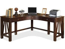 riverside home office curved corner desk 33524 americana