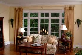 bay windows using yellow curtains and valances different types bow window treatments for bay windows to consider bay window treatments in dining room bay window treatments