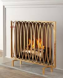 brass fireplace screen with glass doors modern fireplace screen ebay