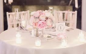 pale pink and ivory peony wedding centerpiece