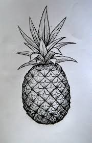 pineapple tattoo sketch pineapple body makeup pinterest tattoo