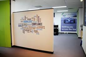 Decorate Office Walls Ideas Office Word Mix For A Technology Copmany Cost Effective And