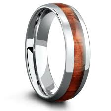 mens wooden wedding bands wood wedding band crafted out of tungsten carbide inlaid with real