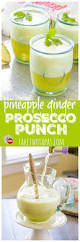 pineapple ginger prosecco punch pitcher style for easy entertaining