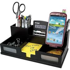staples desk organizer set victor wood desk organizer with smart phone holder frosted glass