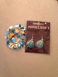 minecraft earrings minecraft diamond pendant necklace minecraft jewelry