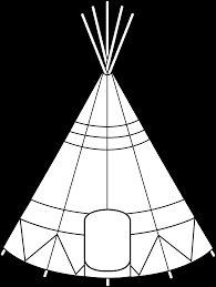 native american clipart teepee tent pencil and in color native