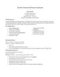 Format Of Resume For Internship Students Internship Resume Lukex Co